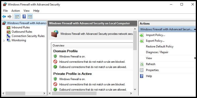 Advenced security firewall