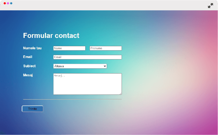 Formular contact html php