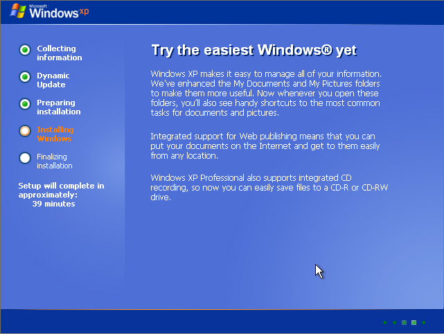 Instalare Windows XP Try the easiest
