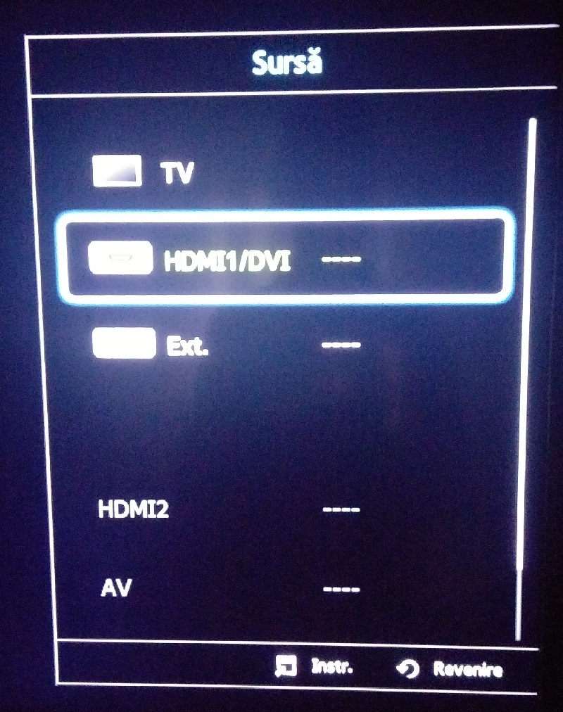 Source tv menu