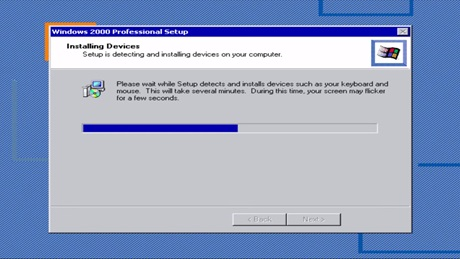 Windows 2000 Detect devices