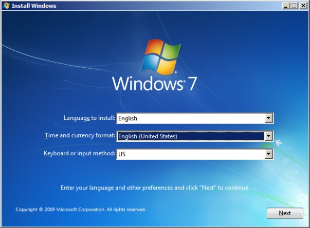 Windows 7 Language