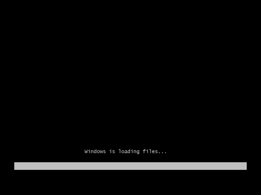 Windows 7 is loading files