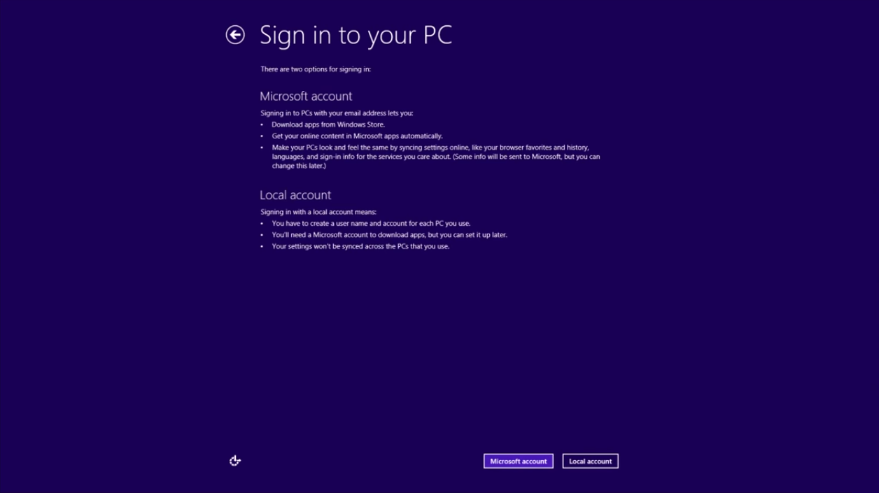 Windows 8 Sign in to your PC3
